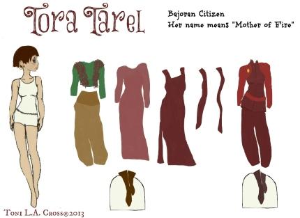 Tora Tarel Bajoran Paperdoll